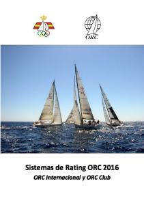 Sistemas de Rating ORC ORC Internacional y ORC Club