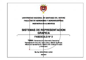 SISTEMAS DE REPRESENTACION GRAFICA