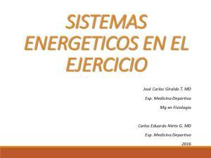 SISTEMAS ENERGETICOS EN EL EJERCICIO