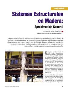 Sistemas Estructurales en Madera:
