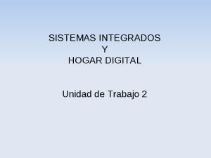 SISTEMAS INTEGRADOS Y HOGAR DIGITAL. Unidad de Trabajo 2