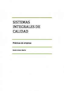 SISTEMAS INTEGRALES DE CALIDAD