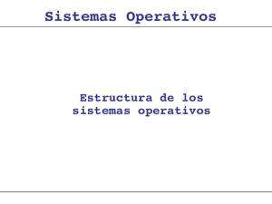 Sistemas Operativos. Estructura de los sistemas operativos