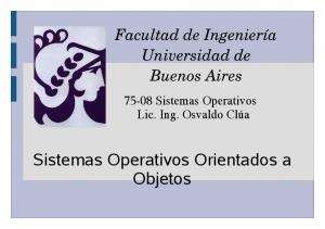 Sistemas Operativos Orientados a Objetos