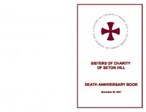 SISTERS OF CHARITY OF SETON HILL DEATH ANNIVERSARY BOOK