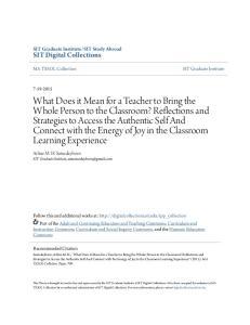 SIT Study Abroad. Arline M. H. Saturdayborn SIT Graduate Institute,