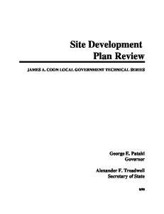 Site Development Plan Review