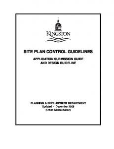 SITE PLAN CONTROL GUIDELINES
