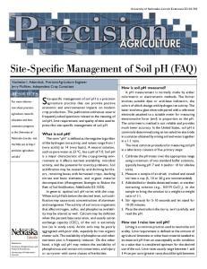 Site-Specific Management of Soil ph (FAQ)
