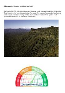 Sitename:-Gondwana Rainforests of Australia
