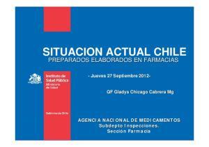 SITUACION ACTUAL CHILE