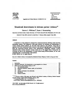 Situational determinants in intimate partner violence $