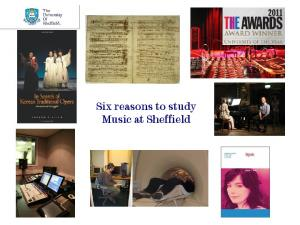 Six reasons to study Music at Sheffield