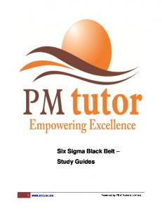 Six Sigma Black Belt Study Guides