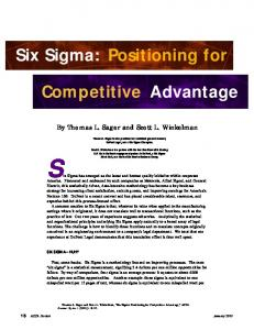 Six Sigma has emerged as the latest and hottest quality initiative within corporate