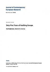 Sixty-Five Years of Auditing Europe