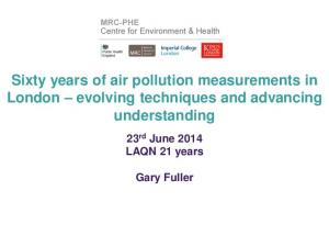 Sixty years of air pollution measurements in London evolving techniques and advancing understanding