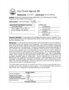 (SJ City Council Agenda Bill