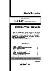 SJ-LW (LonWorks Option)