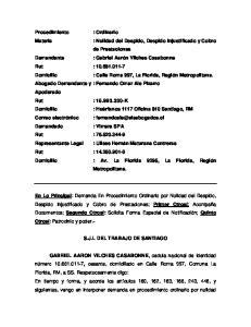 S.J.L DEL TRABAJO DE SANTIAGO