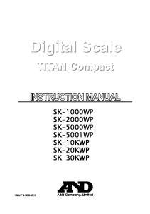 SK-1000WP SK-2000WP SK-5000WP SK-5001WP SK-10KWP SK-20KWP SK-30KWP 1WM PD B - 0 -