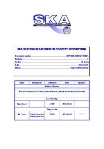 SKA STATION BEAMFORMER CONCEPT DESCRIPTION