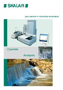 SKALAR. Cyanide. Analysis. your partner in chemistry automation