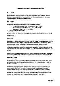 SKERRIES SAILING CLUB SAILING INSTRUCTIONS 2012