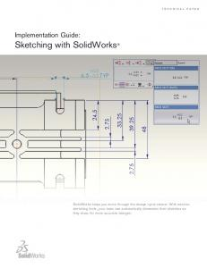 Sketching with SolidWorks
