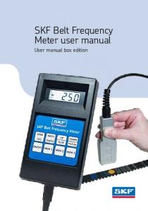 SKF Belt Frequency Meter user manual. User manual box edition