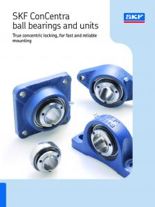 SKF ConCentra ball bearings and units. True concentric locking, for fast and reliable mounting