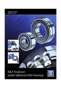 SKF Explorer sealed spherical roller bearings