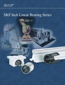 SKF Inch Linear Bearing Series