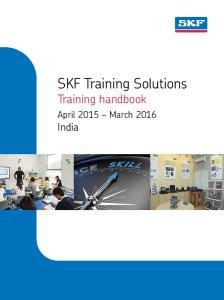 SKF Training Solutions Training handbook