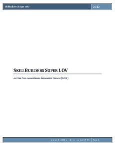SKILLBUILDERS SUPER LOV