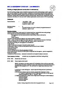 SKILLS ASSESSMENT CHECKLIST Unit MNMG237A