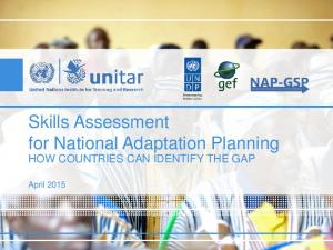Skills Assessment for National Adaptation Planning