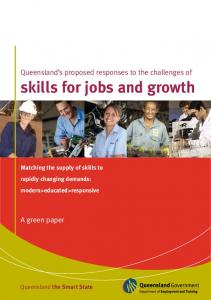 skills for jobs and growth