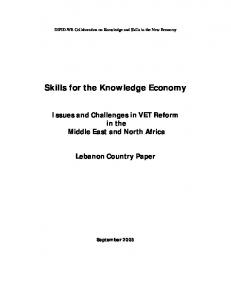 Skills for the Knowledge Economy