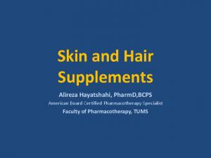 Skin and Hair Supplements