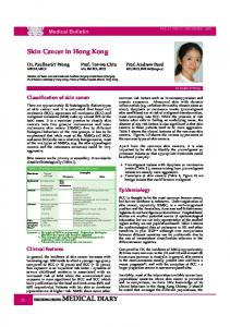 Skin Cancer in Hong Kong