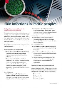 Skin Infections in Pacific peoples
