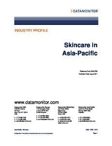 Skincare in Asia-Pacific