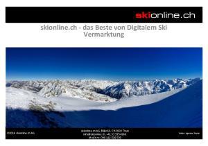 skionline.ch - das Beste von Digitalem Ski Vermarktung