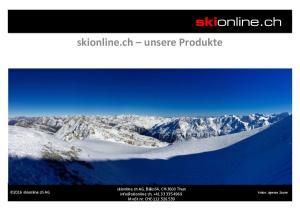 skionline.ch unsere Produkte