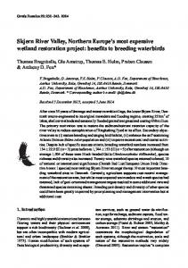 Skjern River Valley, Northern Europe s most expensive wetland restoration project: benefits to breeding waterbirds
