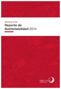 Skretting Chile Reporte de Sustentabilidad 2014