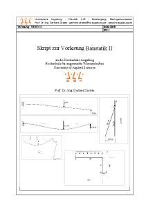Skript zur Vorlesung Baustatik II