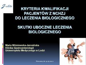 SKUTKI UBOCZNE LECZENIA BIOLOGICZNEGO