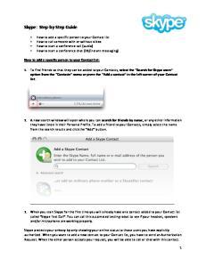 Skype: Step by Step Guide